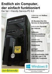 Infoblatt zum Service-PC - fair + friendly Möller & Wessels IT GbR