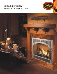 HEARTHVIEW GAS FIREPLACES - Lisac's Fireplaces & Stoves