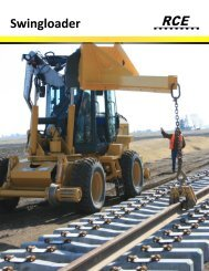 product literature. - Rail Construction Equipment