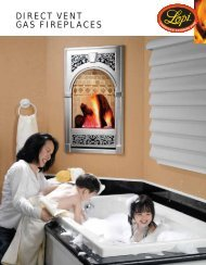 DIRECT VENT GAS FIREPLACES - Lisacs Fireplaces & Stoves
