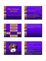 The Nature of Law - New Learner