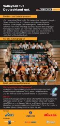 Flyer PDF (0,5 MB) - Volleyball tut Deutschland gut