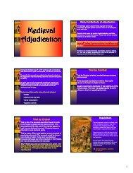 Medieval Adjudication - New Learner