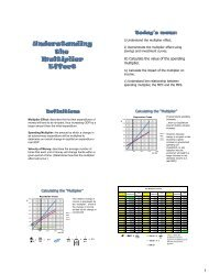 Understanding the Multiplier Effect - New Learner