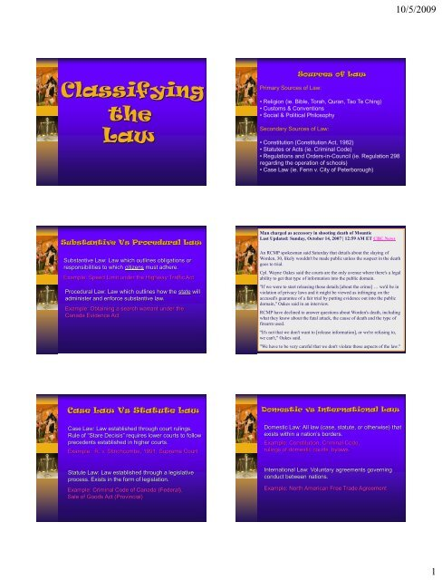 Classifying the Law - New Learner