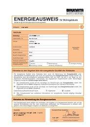 ENERGIEAUSWEIS für Wohngebäude - Wohnbau Prenzlau