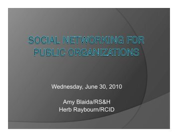 Social Networking for Public Organizations - FACERS