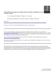 Trade-Offs and Coexistence in Consumer-Resource Models: It all ...