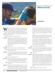Wilderness First aid - WaveLength Paddling Magazine