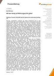Pressemitteilung - Wohnbau Prenzlau