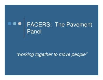 FACERS: The Pavement Panel