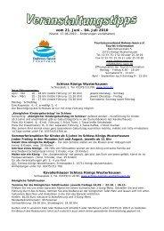vom 21. Juni – 04. Juli 2010 - Tourismusverband Dahme-Seen eV