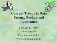 Current Trends in Data Storage Backup and Restoration - Coughlin ...