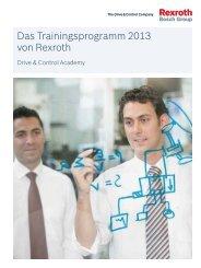 Das Trainingsprogramm 2013 von Rexroth - Bosch Rexroth