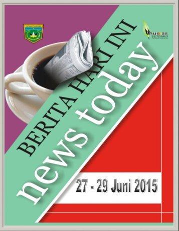 Kliping Tanggal 27 - 29 Juni 2015