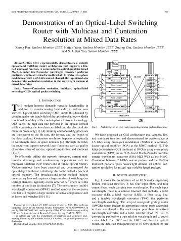 Example of IEEE/LEOS symposium paper