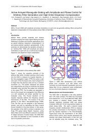 Active Arrayed-Waveguide Grating with Amplitude and Phase ...