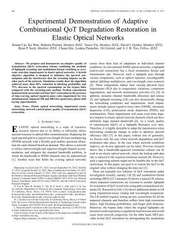 Experimental Demonstration of Adaptive ... - Optics InfoBase