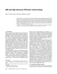 AM and high-harmonic FM laser mode locking - Optics InfoBase