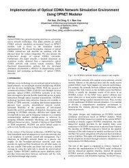 Implementation of Optical CDMA Network Simulation Environment ...