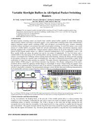 Variable Slowlight Buffers in All-Optical Packet ... - ResearchGate