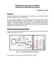 Kenwood TS-2000(X) External Reference Modification - Vk3hz.net