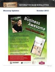 Shuswap Updates October 2012 - Shuswap Tourism