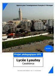 Projet pédagogique EPS - Lycée Lyautey