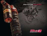 sports-utility quad shock absorbers features - Elka Suspension