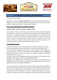 Compte-rendu OILYBIA 12 4ème étape - Elka Suspension
