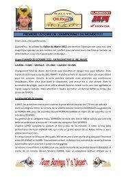 Compte-rendu OILYBIA 12 6ème étape - Elka Suspension