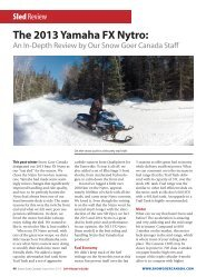 The 2013 Yamaha FX Nytro: - Elka Suspension