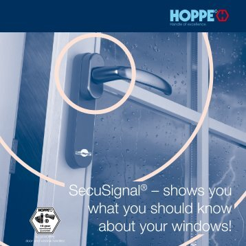 SecuSignal® – shows you what you should know about your windows!