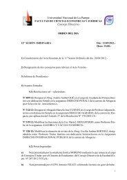 Universidad Nacional de La Pampa Consejo Directivo - Facultad de ...