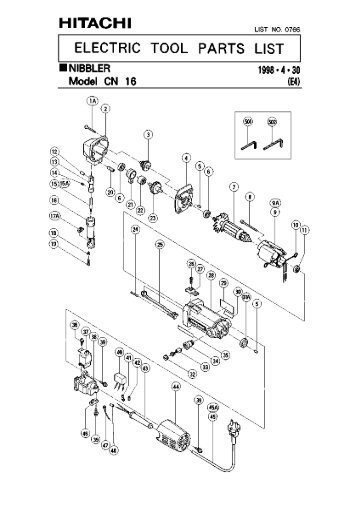 Parts Diagram For Hilti Dsh 700