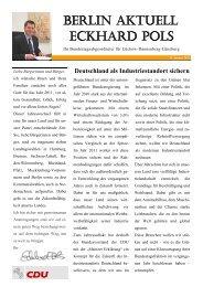 Newsletter 01/2011 des MdB Eckhard Pols
