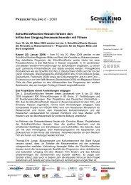 Pressemitteilung 8 vom 30.01.2009 - Medienzentrum Frankenberg