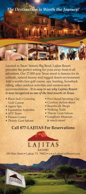 Call 877-LAJITAS For Reservations - Lajitas Golf Resort and Spa