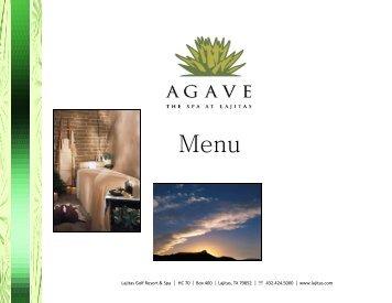 Agave Spa Mini Brochure-rev 11_29 - Lajitas Golf Resort and Spa