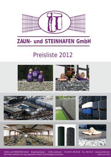 Preisliste 2012 - und Steinhafen GmbH