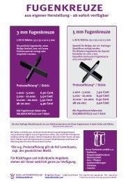 5 mm Fugenkreuze - und Steinhafen GmbH
