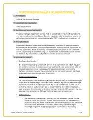 functiebeschrijving sales & key account manager - Vosschemie