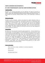 Transparante vloercoating - Vosschemie