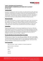 Rubber afdrukken op het lichaam - Vosschemie