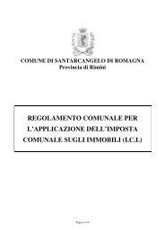 regolamento comunale per l'applicazione dell'imposta comunale ...
