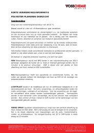 Overzicht polyester plamuren - Vosschemie