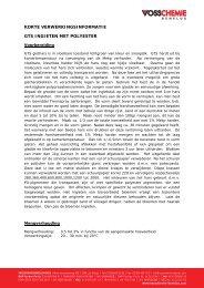 Ingieten met transparante giethars - Vosschemie