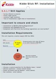 Kidde Slick RF: Installation - Safelincs