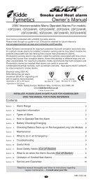 Slick® Smoke & Heat Owners Manual - Kidde Fyrnetics