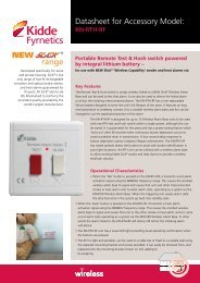 New Slick Wireless Remote Test & Hush spec sheet - Kidde Fyrnetics